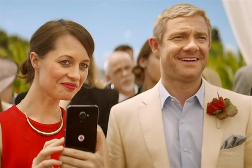 Vodafone: new ad campaign features Martin Freeman
