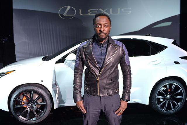 will.i.am: unveiled the Lexus NX at lavish launch event last night