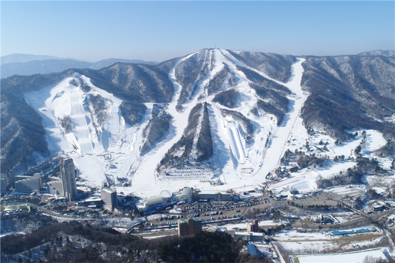 Bokwang Snow Park, site of the freestyle skiing and snowboarding events