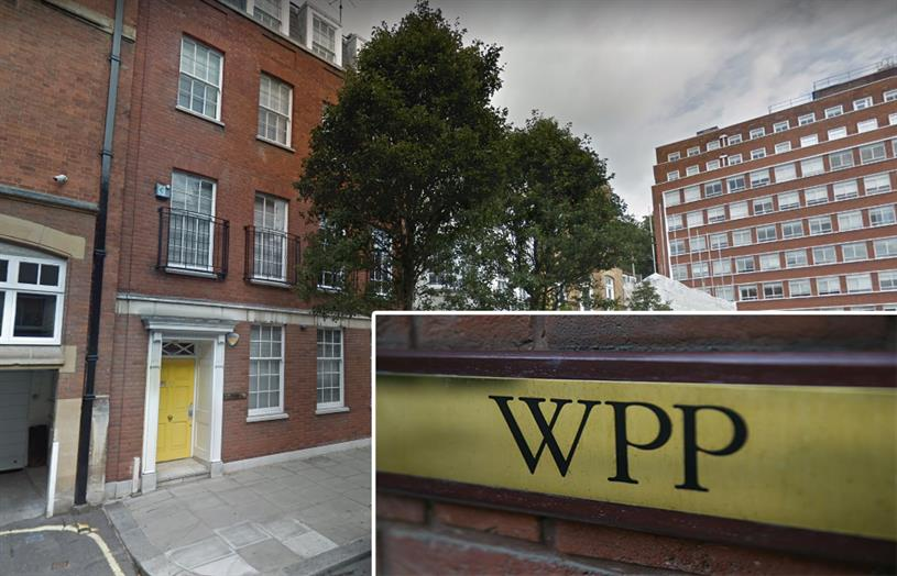 (L-R): WPP's headquarters in 27 Farm Street (Picture: Google Maps); inset: the company plaque