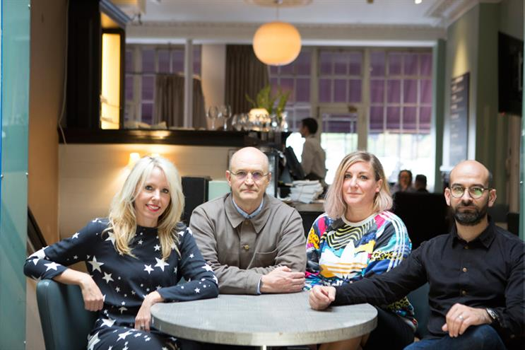 Wunderman: Ellis (second right) with Hulbert, Haworth and strategy chief Richard Dunn