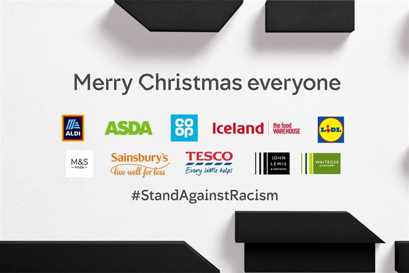 Supermarkets: joined forces to stand against racism