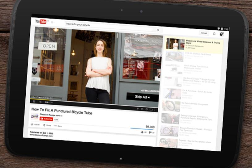 YouTube: under pressure from brands