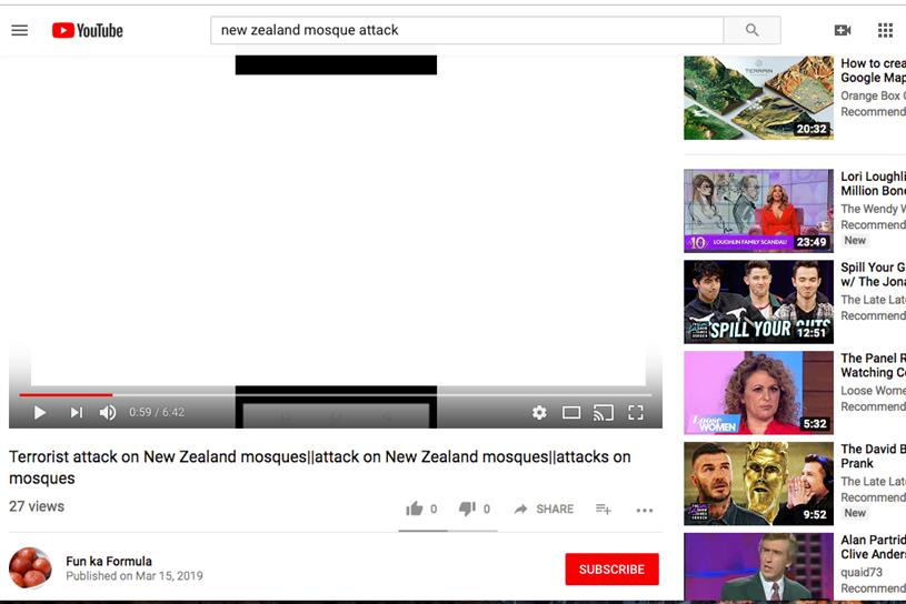 A version of the video was easy to find on YouTube by typing in simple search terms