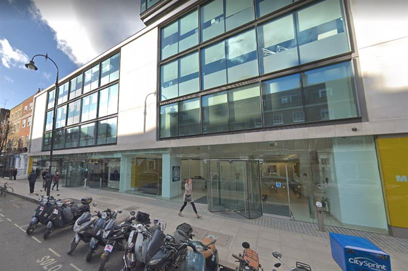 Percy Street: VMLY&R London will be based at Zenith's former office (picture: Google)