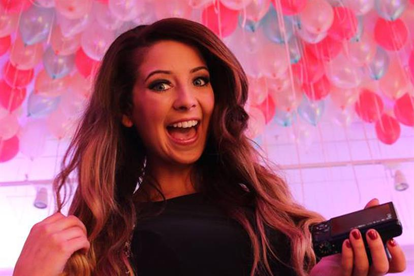 Online influencer Zoella has more than 2.6 million followers on Facebook alone