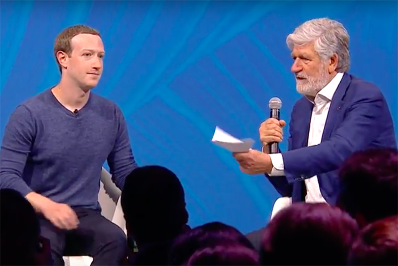 Zuckerberg (left) with Levy