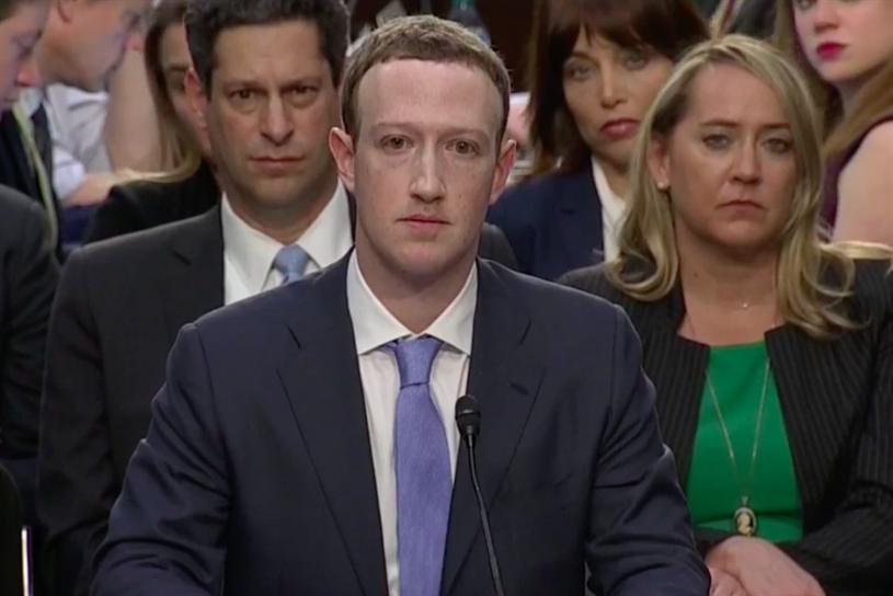 Mark Zuckerberg: appeared before US Congress