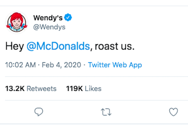 Wendys Christmas Evr Hours 2020 Wendy's never directly named McDonald's in trolling tweets, until