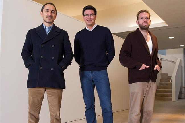 Droga5 London: led by (left to right) Droga, who founded the agency in New York; Scott, the CEO; and Kolbusz, the chief creative officer.