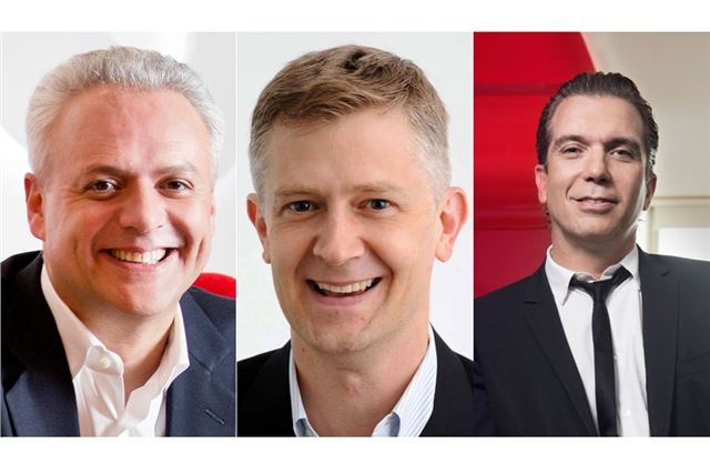 Paul Heath (left) will take on a global role at Ogilvy as Kent Wertime and Chris Reitermann replace him as APAC co-CEOs.