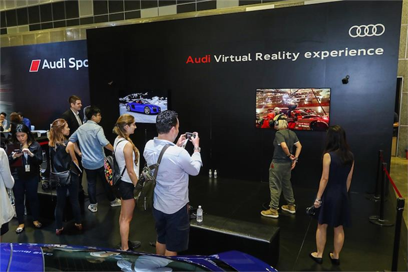 The Audi VR experience at the Singapore Motorshow 2017