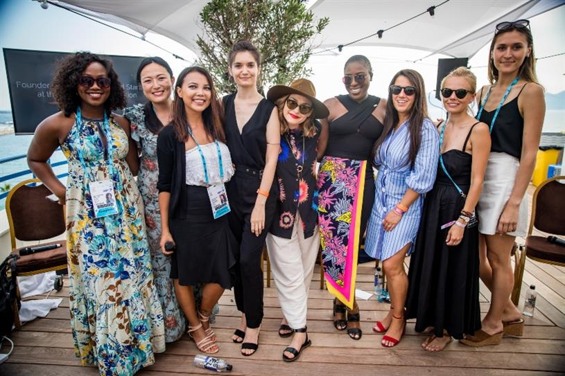 The female founders from R/GA's Cannes Lions Startup Academy last year.