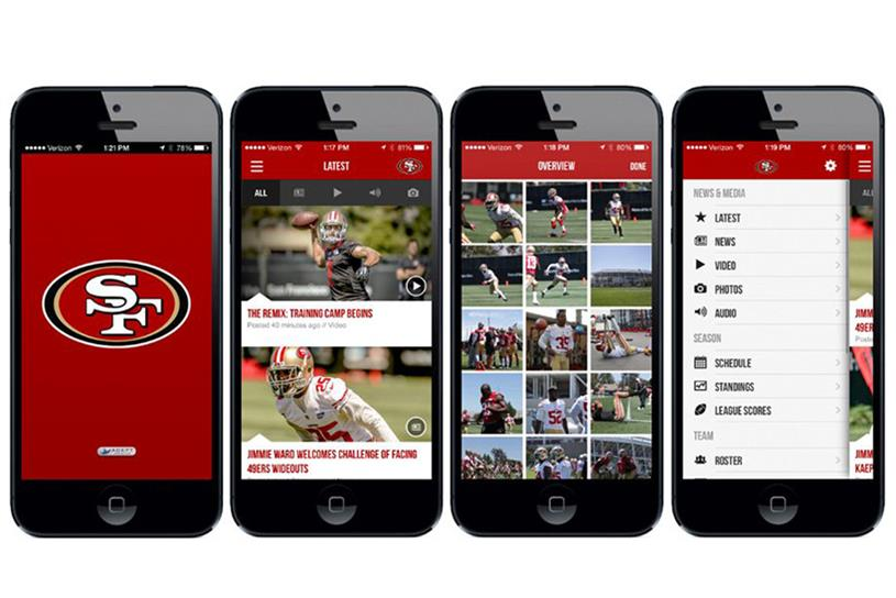 San Francisco 49ers stadium app.