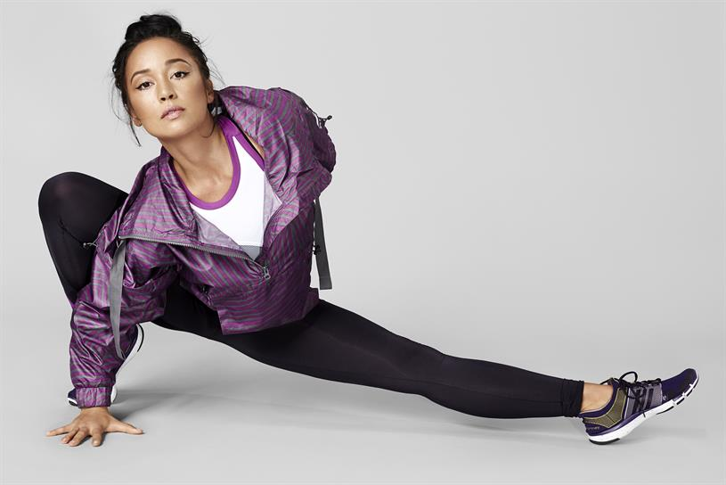 """Fitness artist"" Nicole Winhoffer for Adidas by Stella McCartney."