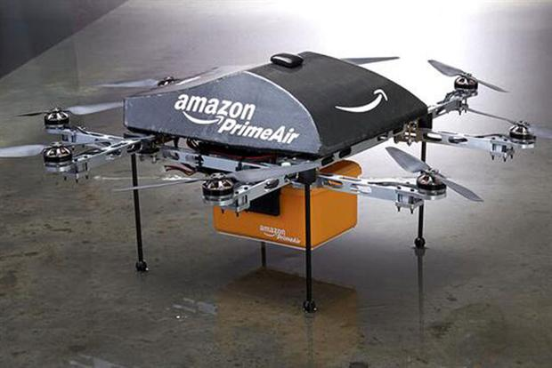 Drones like this one may one day deliver parcels to doorsteps.