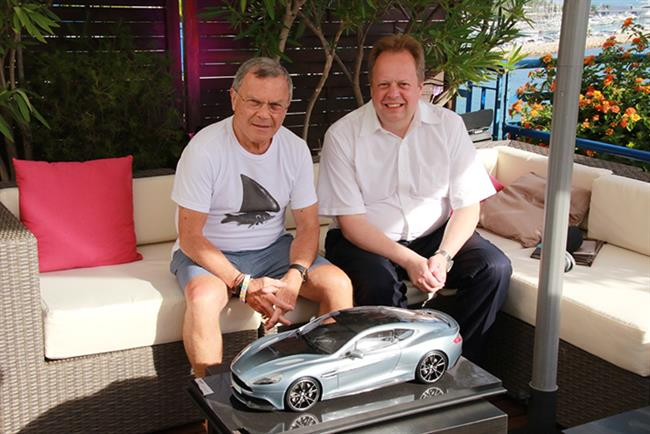 Martin Sorrell (left) and Andy Palmer revealed their plans for Aston Martin at Cannes yesterday.