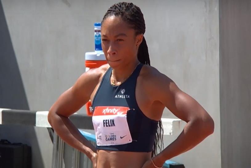 U.S. Olympic track and field sprinter Allyson Felix