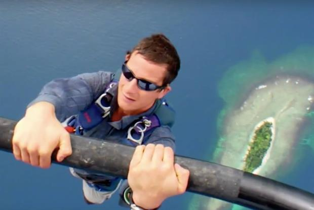 Bear Grylls' show is being used to show off private island listings on Airbnb.