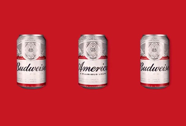 Budweiser's rebrand ahead of the US presidential election.