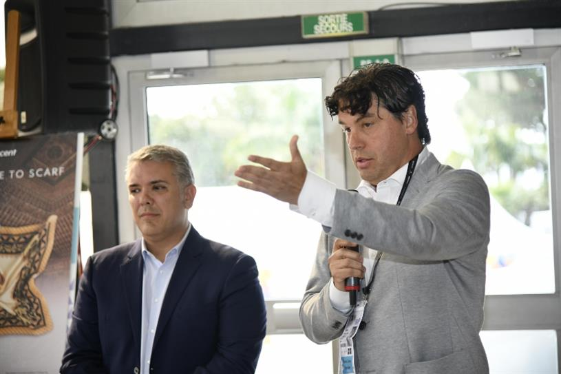 Colombian President Ivan Duque and DDB Latina CEO and President Juan Carlos Oritz