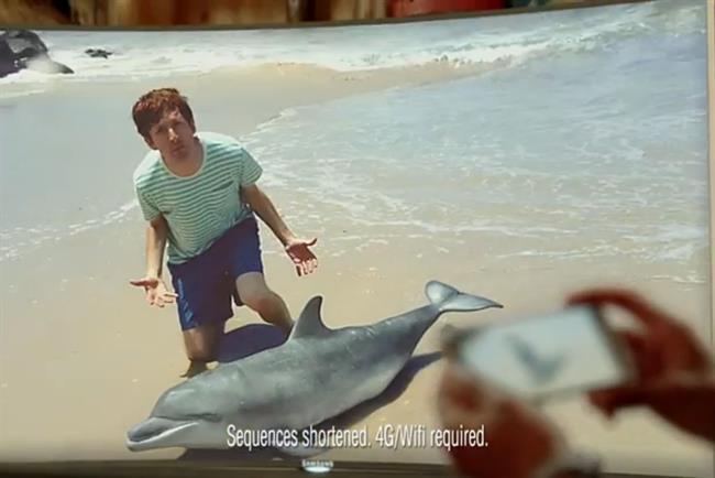 "Samsung's new ""Dolphin Whisperer"" ad."
