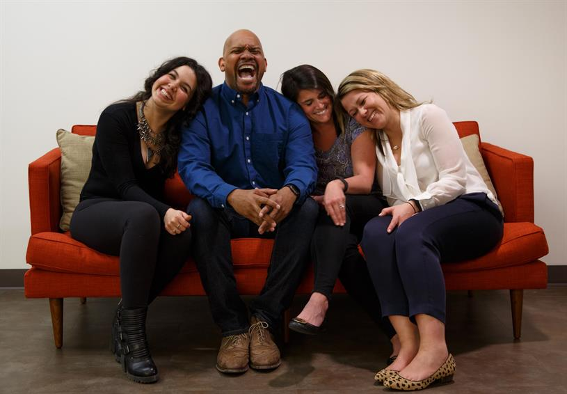 L-R: Ivannah Flores (Integrated Producer); Vann Graves (Creative); Sally Lynch (Account Director); and Kate Lamb (Strategist) (Not pictured:Josh Gross, Director/Editor.)