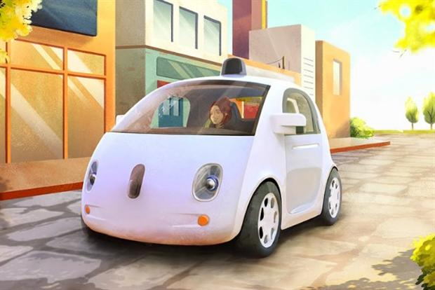 Google's self-driving car: an artist's impression of the vehicle.