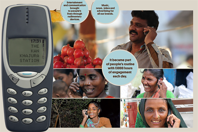 "Mobile radio: ""Kan Khajura Tesan"" reached out to consumers in India's ""media dark"" areas."