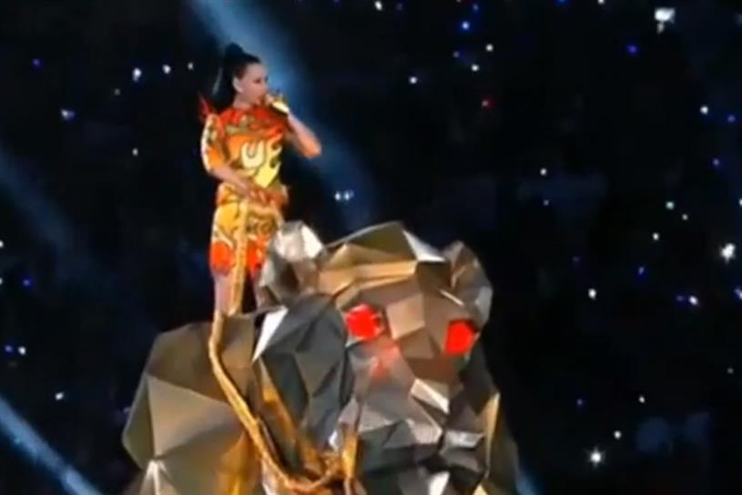 Riding high: Katy Perry's halftime show joined Super Bowl Twitter highlights.