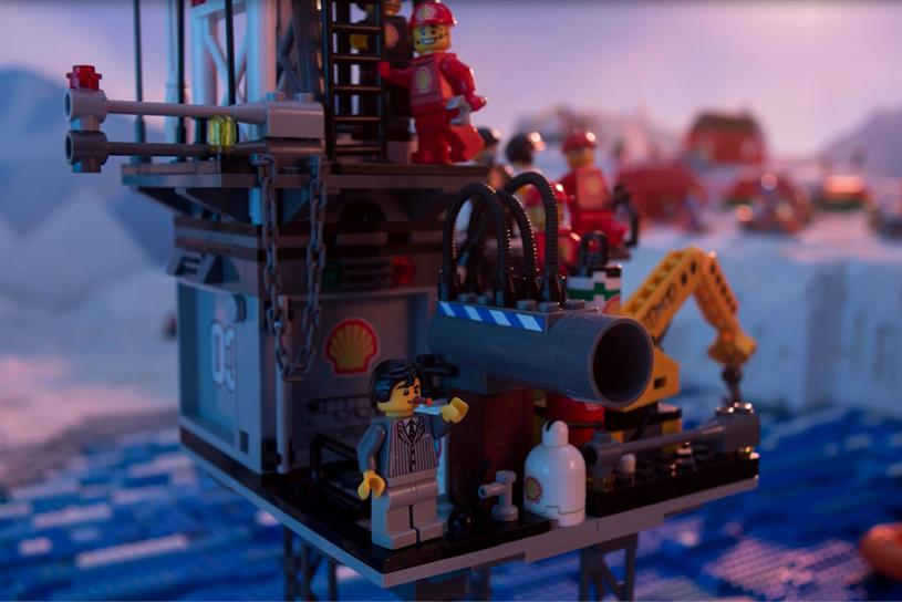 Everything is not awesome: the film aimed to draw attention to Lego's partnership with Shell