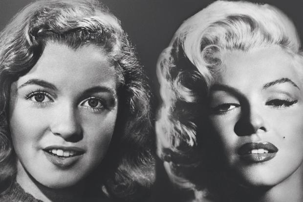 Max Factor: tie up with star sees it take credit for transforming Norma Jean Baker into Marilyn Monroe.