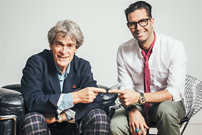 Sir John Hegarty and Pelle Sjoenell.