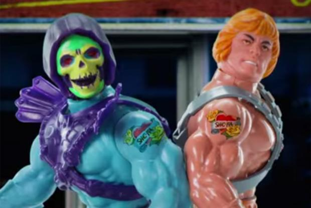 Honda spot uses Skeltor and He-Man.