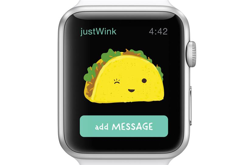The justWink app for Apple Watch.