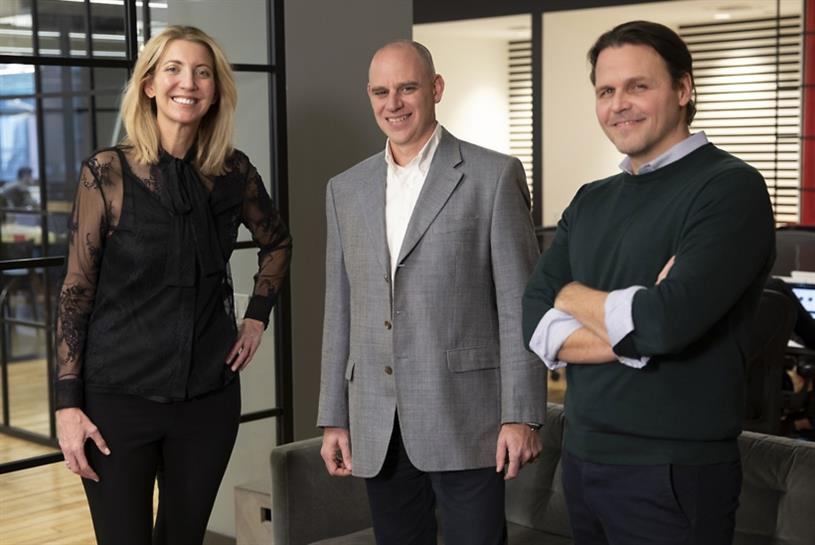 From left to right: CMO Kelly Stevens, CFO Chad Gilchrist and Managing Director Nathan Stewart.