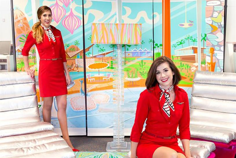 df7c16d39fa4a4 Virgin America asks travelers to go  60s mod