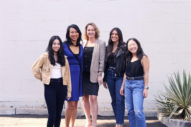 Zambezi's Media Director Katrina Moore-Weiss, Senior Media Planner Kailey Campos, Assistant Media Planners Anika Kokatay, Kaitlyn Cheung and Executive Director Grace Teng