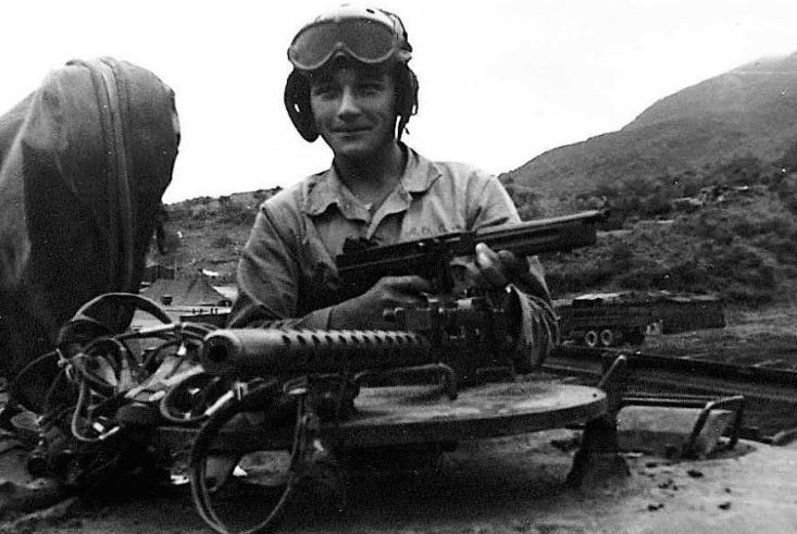 Roy Angelo, tank driver of the 1st Marines Division during the Korean War