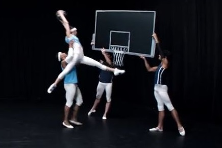 "A scene from PlayStation's ""Dunk"" video."
