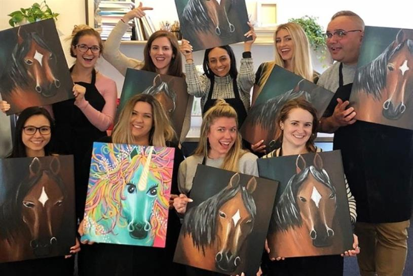 "Barefoot Wine super-fans come together for a ""sip and paint"" session as part of Odysseus Arms' drive to change the brand conversation"