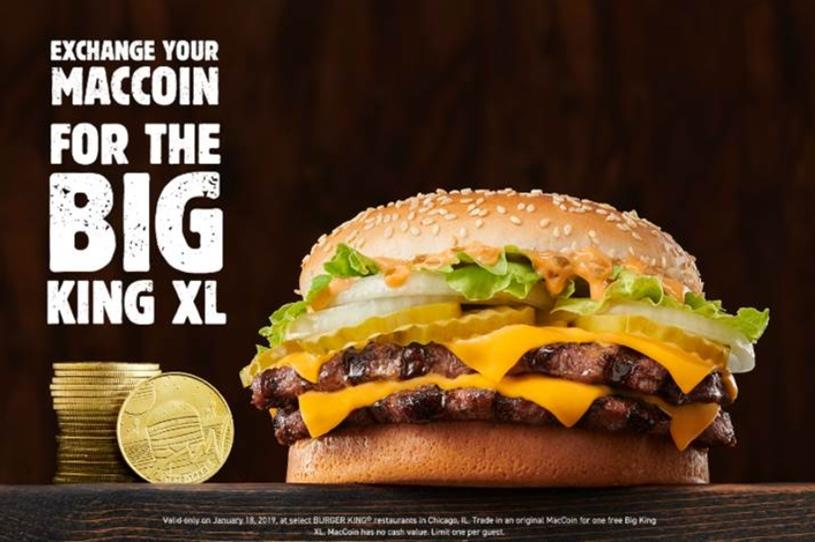 Have expired MacCoins? Cash them in at Burger King | Campaign US