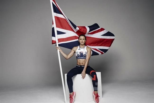 Olympic athlete Jessica Ennis in the new Team GB Adidas gear.
