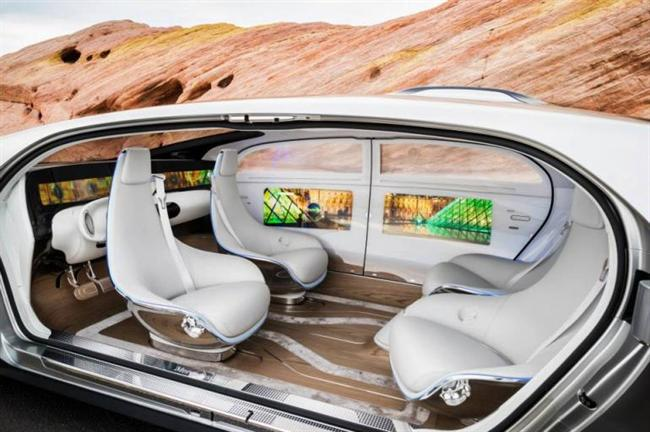 Mercedes-Benz F 015: the concept self-driving car.