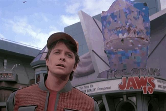 Back to the Future II predicted the use of outdoor 3D displays.