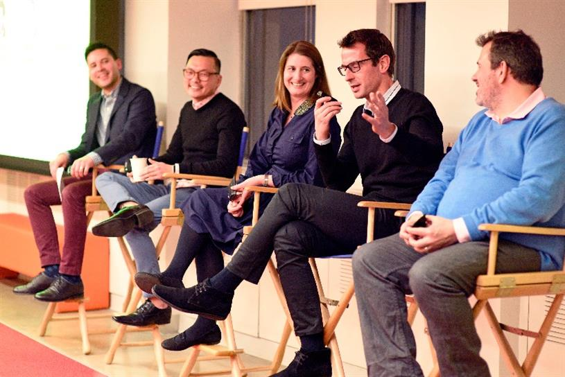 L to R: Campaign US editor I-Hsien Sherwood, Edward Lee of The Exchange Lab, head of marketing at HSBC Angela Ceccarelli, CMO of Tough Mudder Jermone Hiquet and Jason Chebib, Diageo's VP of consumer planning