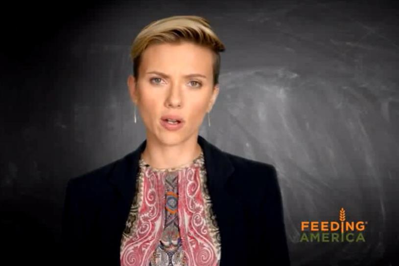 Scarlett Johansson for FeedingAmerica.org.