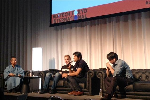 From left: Shuji Honjo, Honjo International; Antti Sonninen, Slush Asia; Masashi Kobayashi, Infinity Ventures; Akihiko Kawamoto, Hakuhodo DY Media Partners.