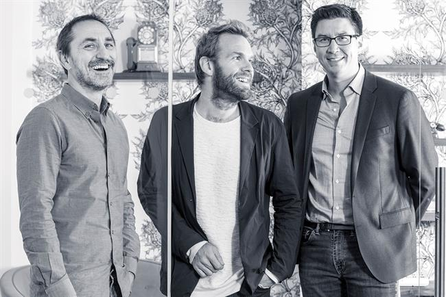 Droga, Kolbusz and Scott (l-r): London office's revamped management line-up.