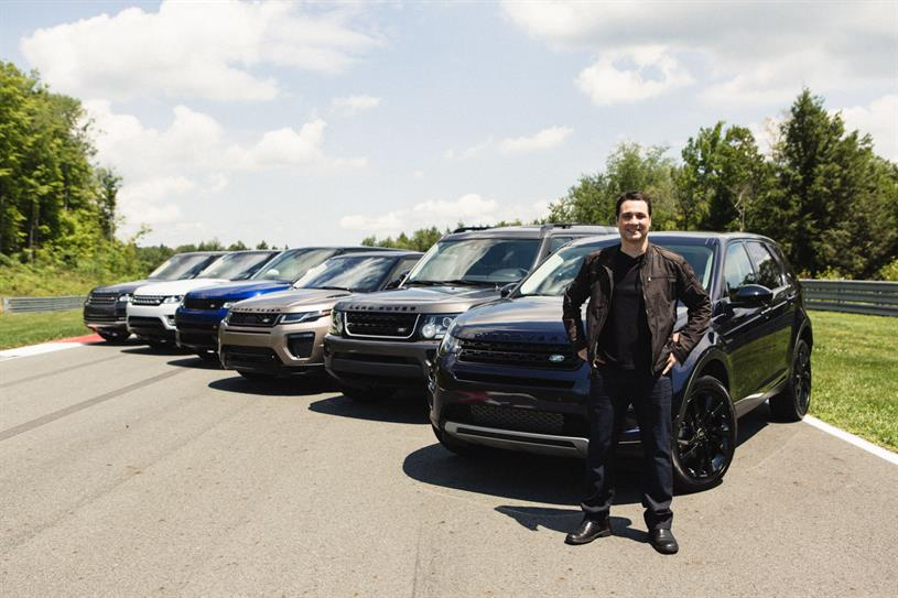 Adam Ferrara and the Land Rover family.